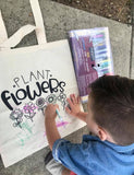 Plant Flowers Reusable Tote Bag