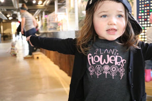 Limited Edition Pink Print Plant Flowers Kids Tee