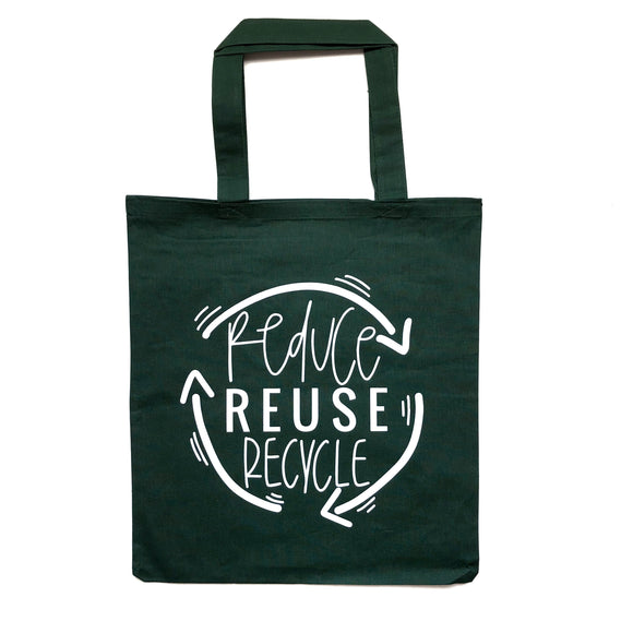 Reduce. Reuse. Recycle. Tote Bag