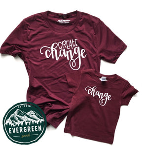Create Change & Change Adult & Kid Tee Set