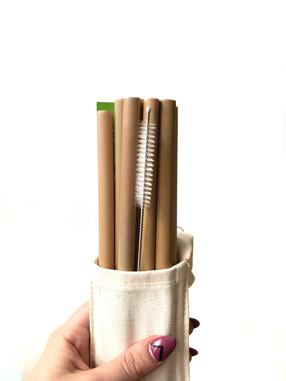 Bamboo Straw Set (Pack of 8)