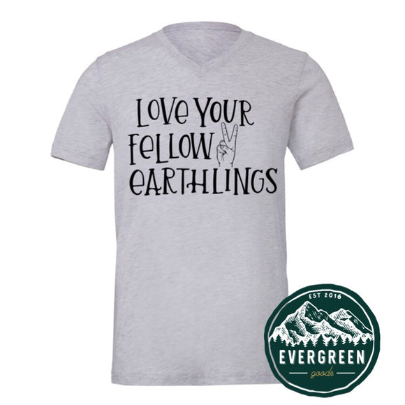 Love Your Fellow Earthlings Adult Tee
