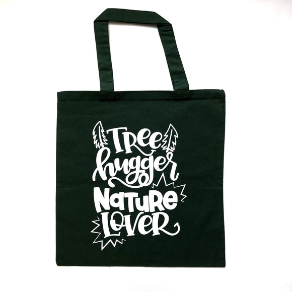 Tree Hugger, Nature Lover Tote Bag