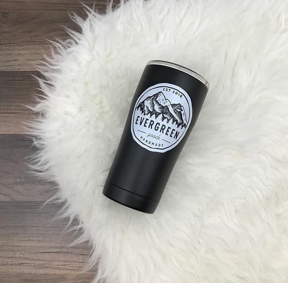 Evergreen Goods Logo SIC Tumbler 20oz