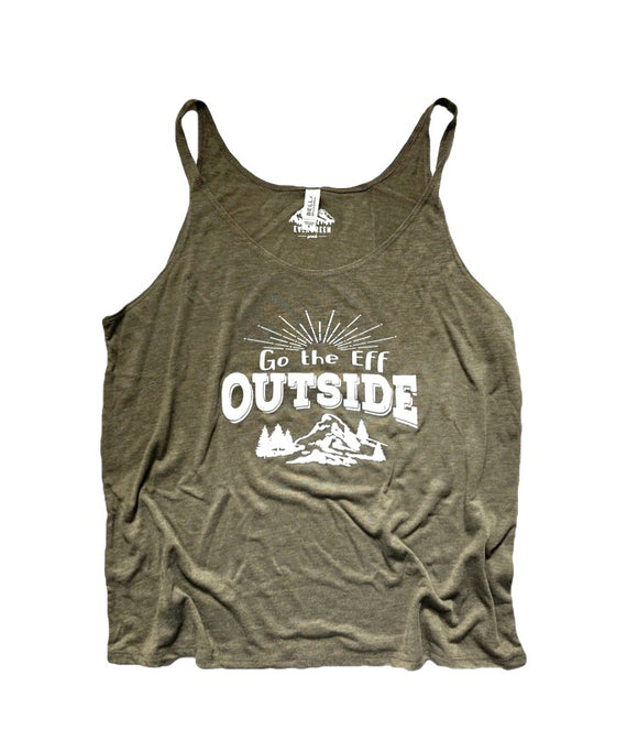 Go the Eff Outside Women's Slouchy Tank