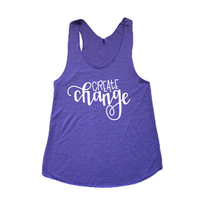 Create Change Women's Racerback Tank
