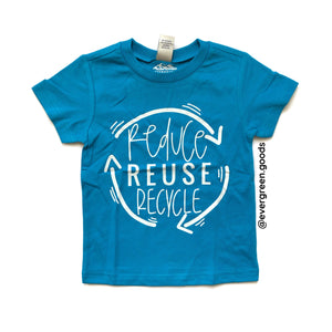 Reduce, Reuse, Recycle Kids Tee-Summer Edition