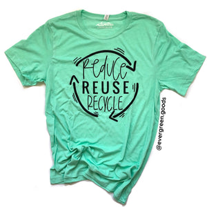Reduce, Reuse, Recycle Adult Tee-Summer Edition