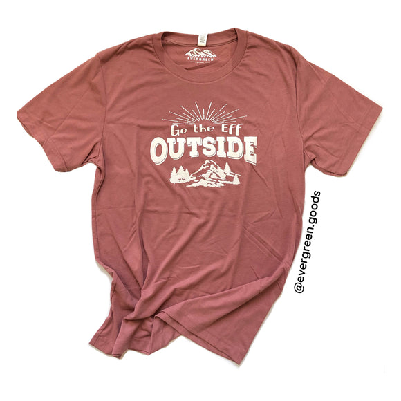 Go the Eff Outside Adult Tee-Summer Edition