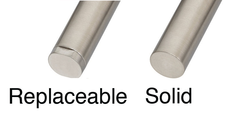 Replaceable vs. Solid Tips