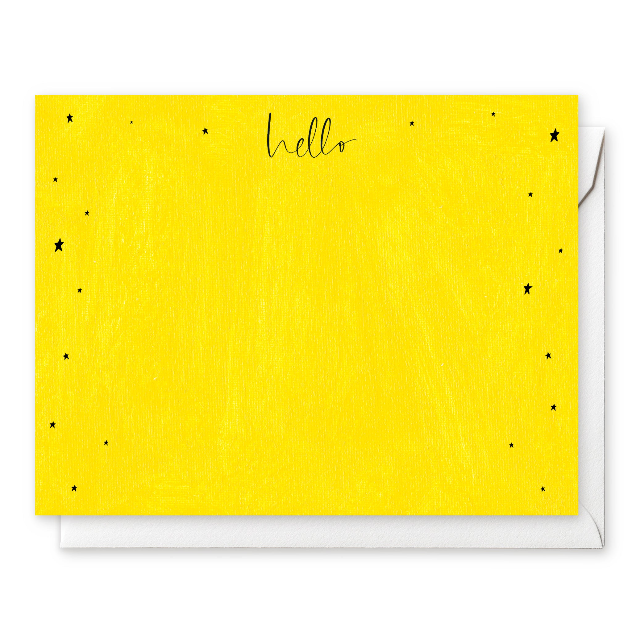 Luxe Social Stationery: Yellow Stars
