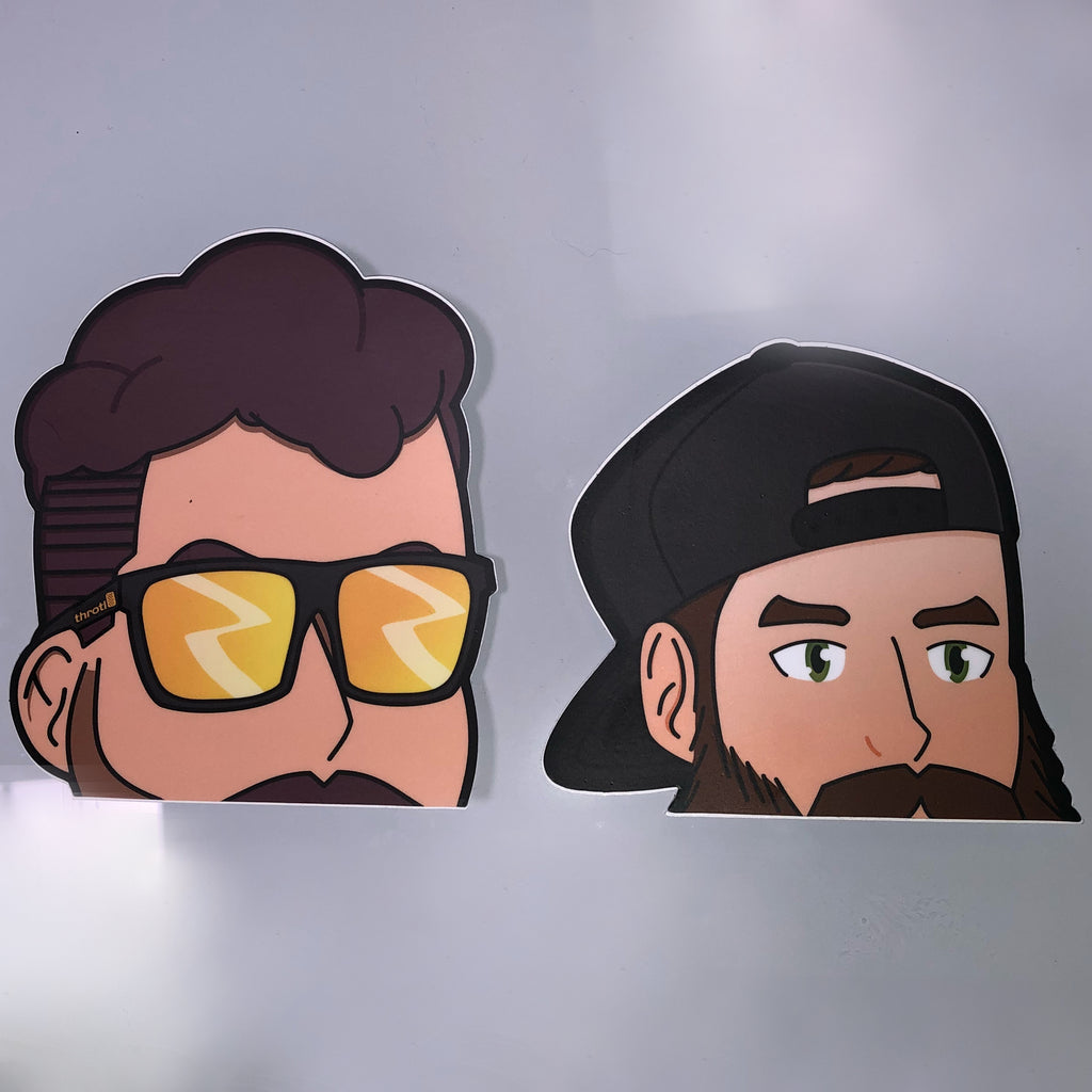 "Combo ""Peeker"" Slap Stickers (Evan + Mickey)"