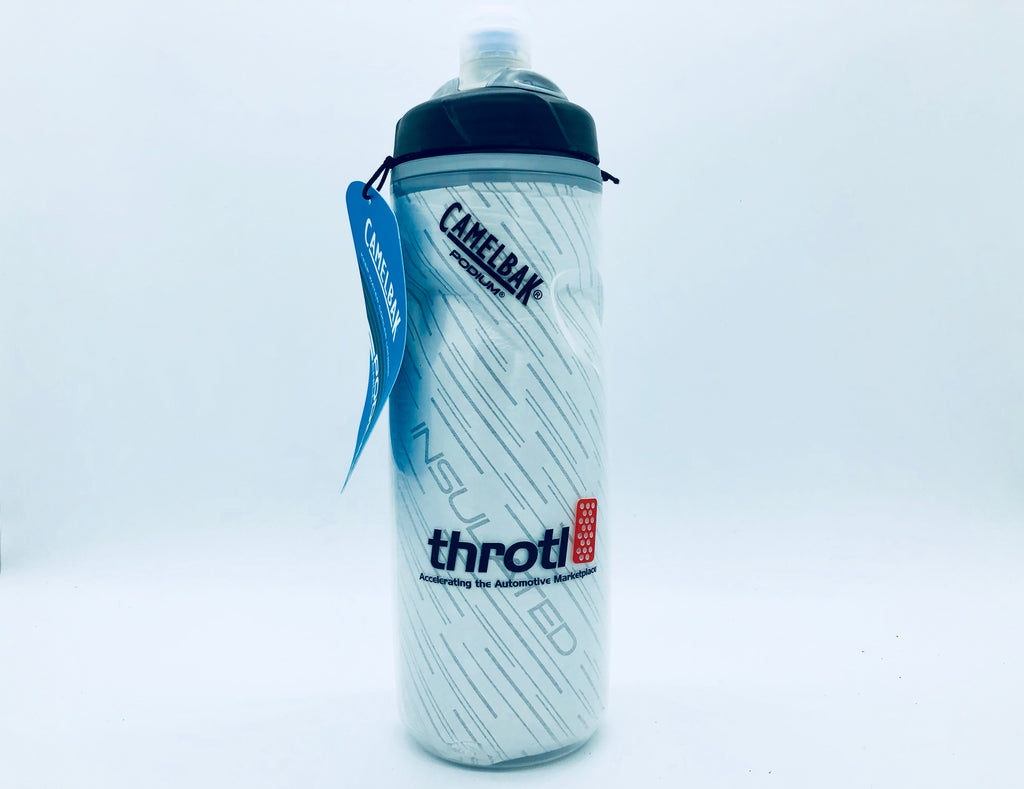 throtl Bottle - Insulated Black Podium Water Bottle