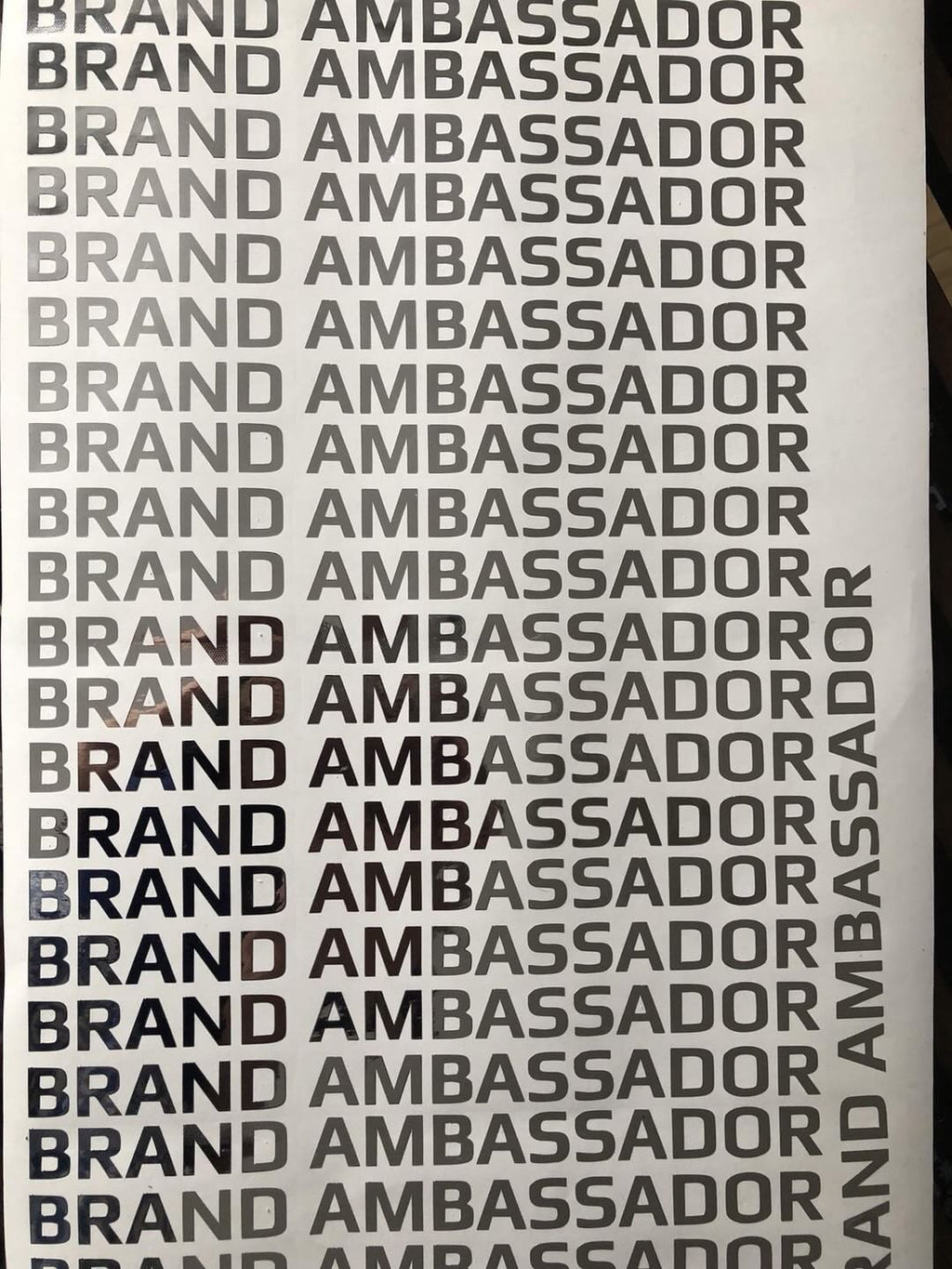 "throtl Brand Ambassador Metallic Decal: 12"" Length - Chrome"