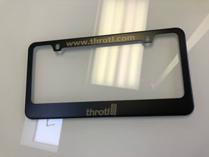 throtl Matte Black - Stainless Steel License Plate Frame - VIP only