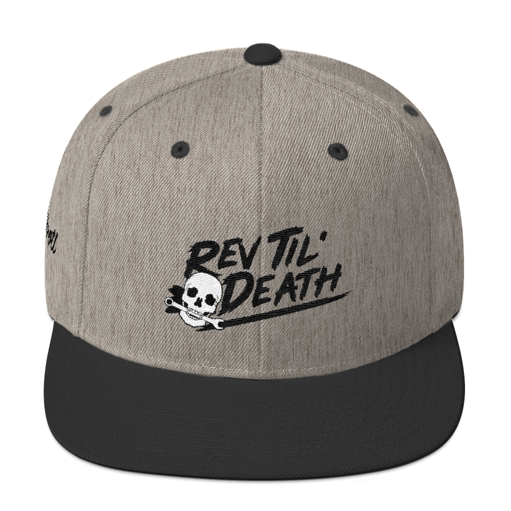 Rev Til' Death - throtl Grit Snapback Hat