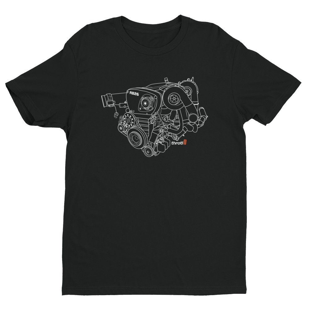 RB-26 Engine Short Sleeve T-Shirt