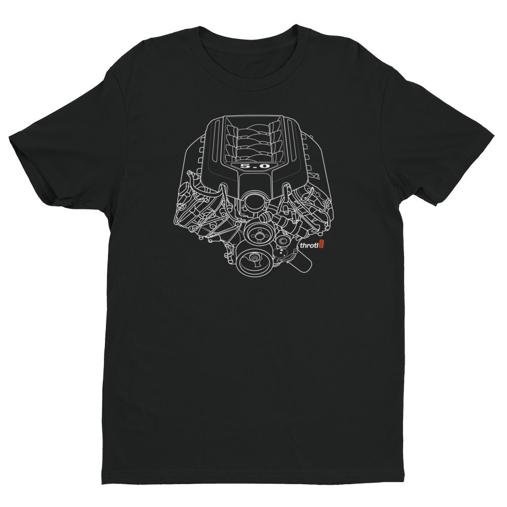 5.0 Coyote Engine - Short Sleeve T- Shirt