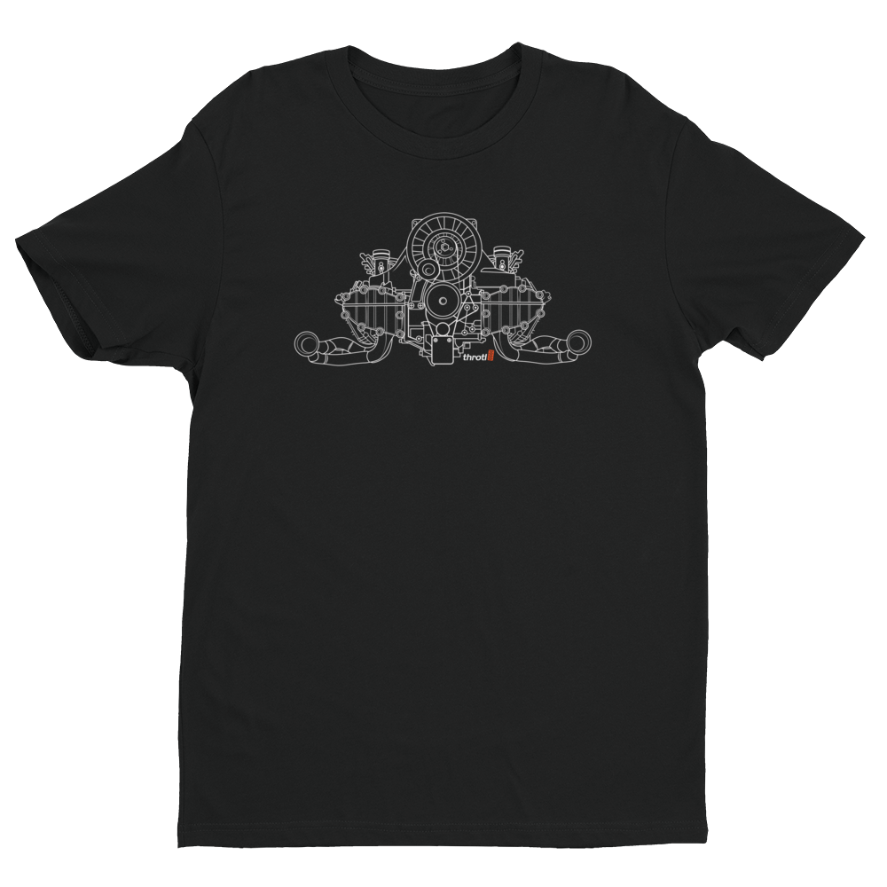 Air Cooled 911 Engine - Short Sleeve T-shirt