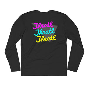 throtl Retro Long Sleeve Fitted Crew
