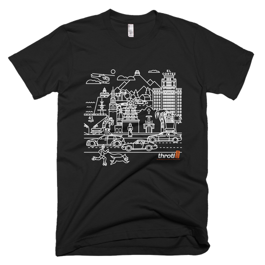 San Diego CityScape Limited Edition throtl Tee Black