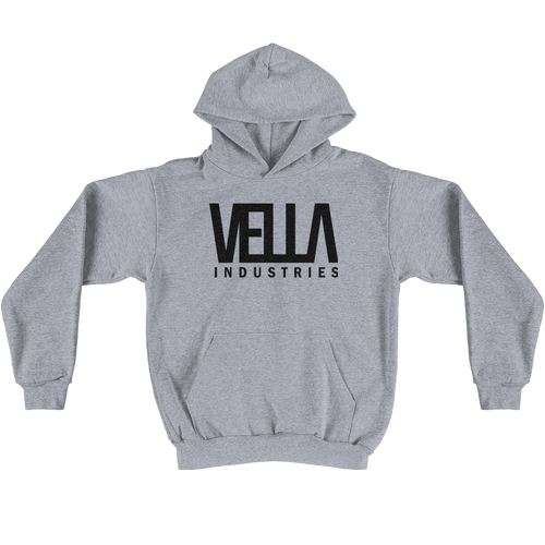 VELLA INDUSTRIES LOGO UNISEX HOODIE MADE IN USA