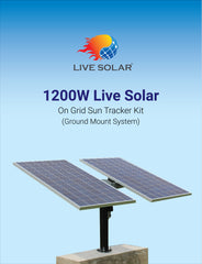 Live Solar On Grid Ground Mount with Sun Tracker Kit