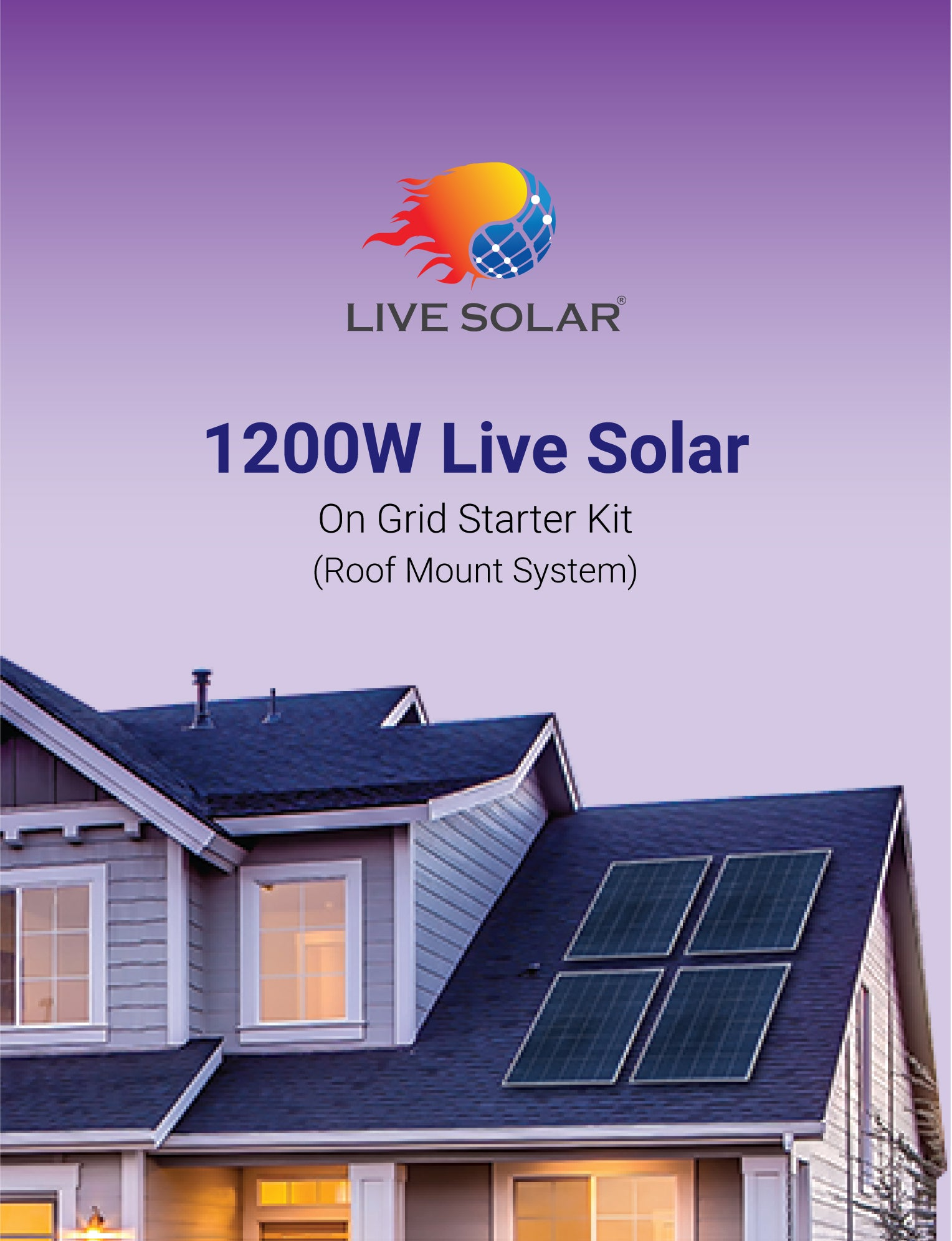 Live Solar 1200W On Grid Roof Mount Starter Kit System