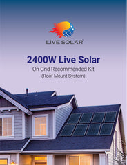Live Solar 2400W On Grid Roof Mount Recommended Kit System