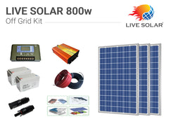LIVE SOLAR Off Grid Kit 800w