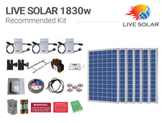 Live Solar Recommended Kit 1830w