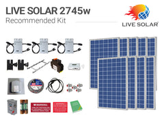 Live Solar Recommended Kit 2745w
