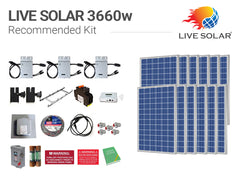 Live Solar Recommended Kit 3660w