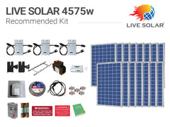 Live Solar Recommended Kit 4575w