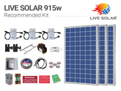 Live Solar Recommended Kit 915w