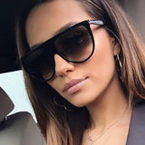 Fashion  Unisex Vintage Shaded Lens Thin Glasses Fashion Aviator Sunglasses