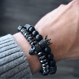 The Diabolos - Black Bead Bracelet