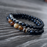 The Leo - Black Bead Bracelets