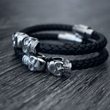 The Alastor - Black Leather Bracelet