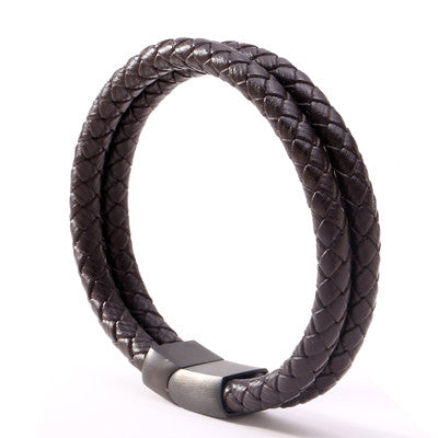 The Tiberious - men's leather bracelet
