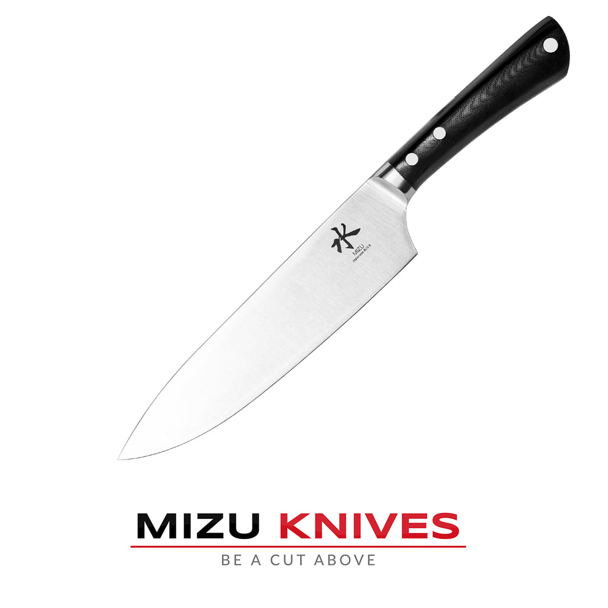 "Mizu 8"" AUS8 Japanese High Carbon Chef's Knife"
