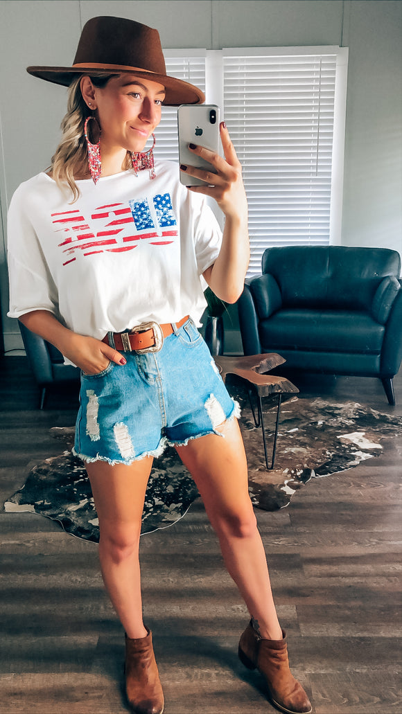 Dianne USA Crop Top