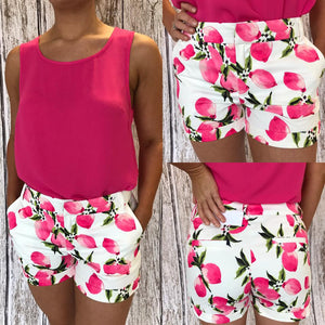 Darla Pink Lemon Short