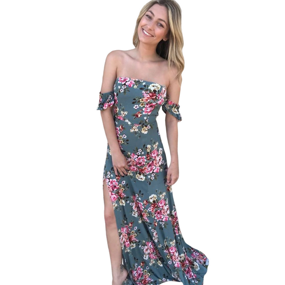 Lexi Floral Off The Shoulder Maxi Dress