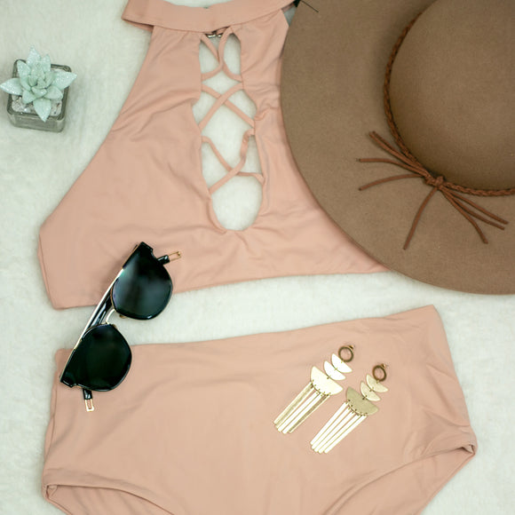 BLUSH HIGH COLLAR BIKINI