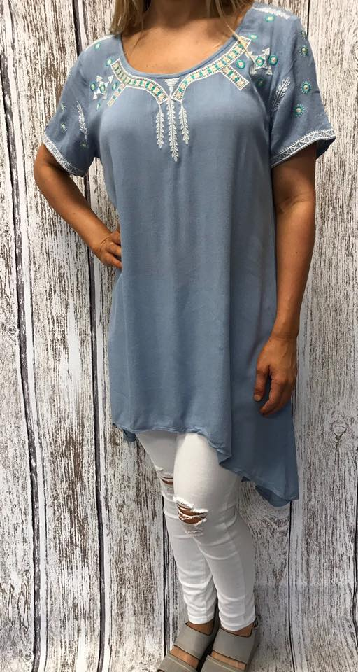 Amelia Baby Blue High Low Top