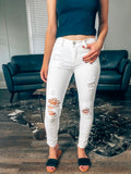 Ginger White Distressed Jeans