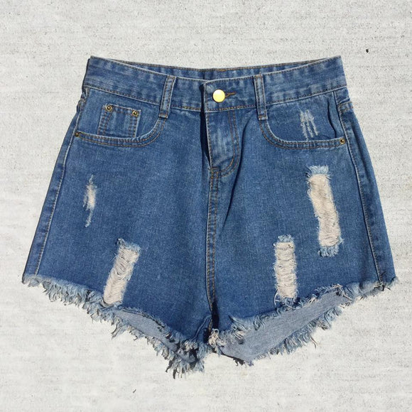 Tootsie High Waisted Denim Shorts