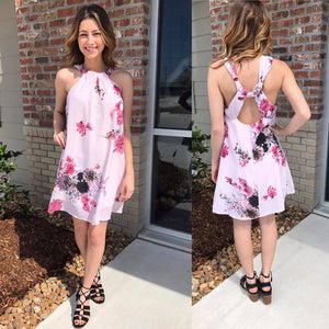 Ophelia Pink Floral Dress