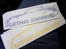 "Lethal Camaro 6.5"" Decal (Gen 6)"